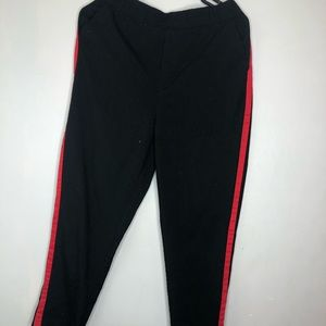 Pants - Black Trouser with Red Stripes